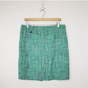 J. Crew | No. 2 Pencil Skirt in Green Tweed